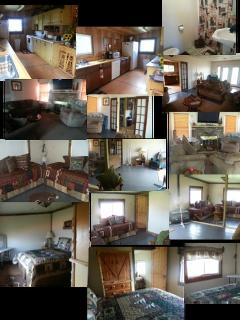 Collage of inside the cabin
