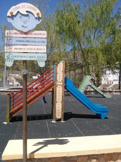 Children playground close to multisport  municipal stadium open and free acces