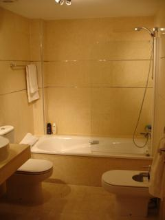 En - Suite Shower/ Bathroom with bidet and 2 Sinks.