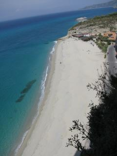 One of many Award-Winning Tropea Beaches- safe for bathing and watersports.  Just a few minutes away