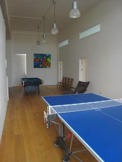 The games room with snooker and table tennis.