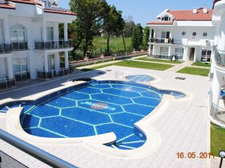 Pool area - view from lounge/kitchen balcony on 1st floor