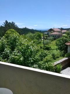 Views from the balcony over the village and mountain range beyond...