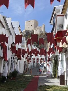 Our street decorated for Corpus Christi