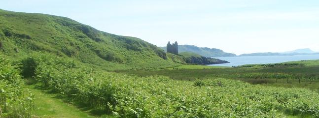 View of Gylen Castle on Isle of Kerrera