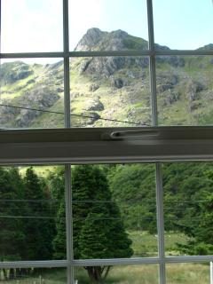There are mountain views from all windows