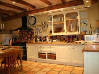 the beautiful kitchen