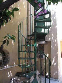 Spiral Staircase up to Roof Terrace