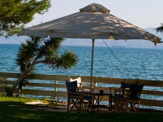 Seafront Villa , beach,dock, Feet in the water, Eretria