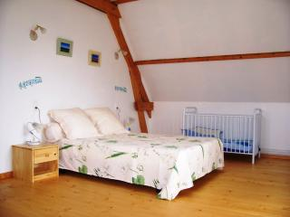 The bedroom 1 of cottage 5 people 1 double bed