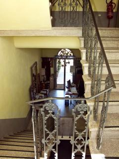 vista delle scale inizio '900 della locanda