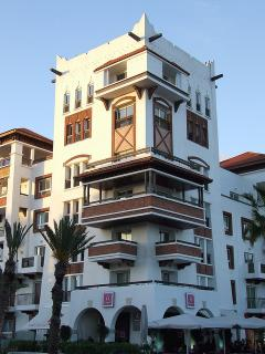 Marina Agadir architecture inspired by the local Kasbah style of architecture