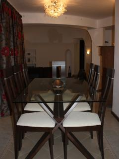 Sociable split level dining area