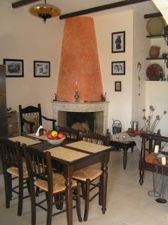 Dining area,fire place