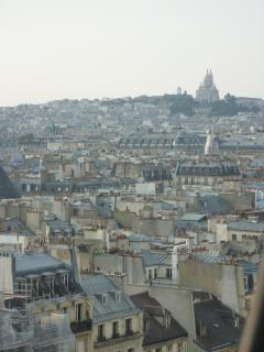 View on Montmartre from the top of Centre Georges Pompidou
