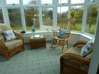 The Conservatory, ideal for a relaxing read with a glass of something nice!