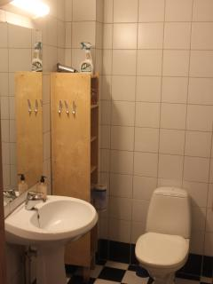 The private bathroom at ground floor