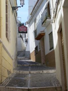 One of the cobbled streets in Almunecar old town