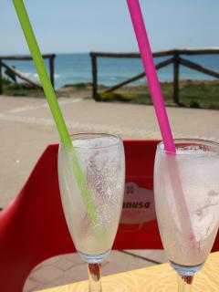 refresh your palate with a lemon sorbet by the sea