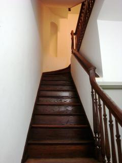 One staircase to apartment #2