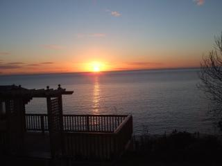 Sunrise over the Decking area