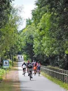 Voie Verte.  55kms of cycle paths accessible from the site