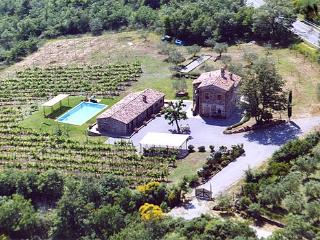 Detached villa with private pool, air conditioning, Wi-fi near Siena. 5 bedrooms