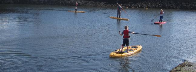 Paddle Boarding in Raghly Harbour