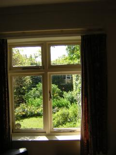 View from sitting room over the South-facing garden