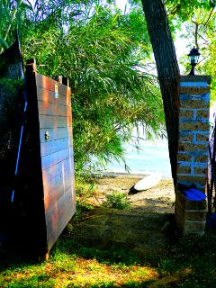 Door to the private beach