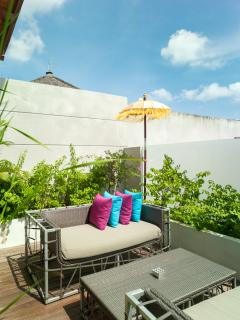 One of the outdoor spaces... a terrace on the second floor adjacent to the Suite