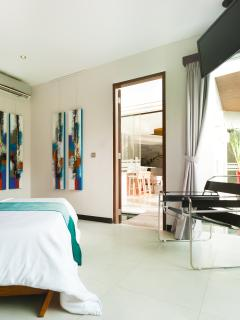 Each room is air-conditioned and has views to the Garden and Pool