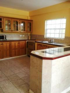 bottom poolside apartment kitchen closer veiw