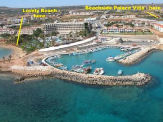 Beachside Palace Villa - with large pool slide, Protaras