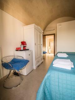 Postvorta room 2° floor - 3 beds,  panoramic view from balcony, mini-fridge, bathroom.
