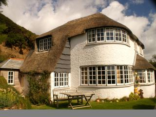 Large thatched house in stunning location sea view, Crackington Haven