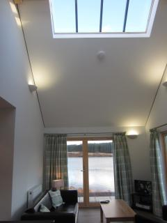 Skylight in open living area