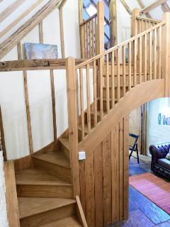 Staircase to the master bedroom
