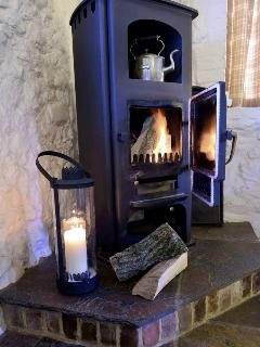 Cozy up beside the log burner