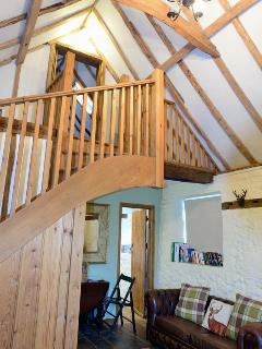 Traditional oak beams in this traditional cottage