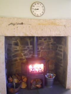 Lounge with Log Burner Stove Cosy!!!