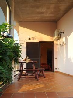 veranda del mini appartamento