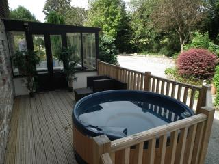 Great new rear deck with private hot tub
