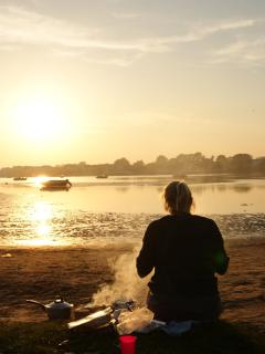 BBQ on the beach at Mudeford Quay
