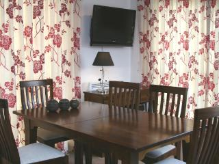 Large dining table seats 6.