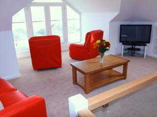 Luxury upstairs Lounge with wonderful views to Rock and Polzeath