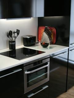 Well-equipped modern kitchen.