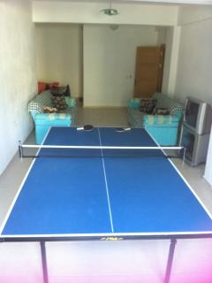 Large Games Room with TV DVD, Table Tennis and shower room and access to the garden