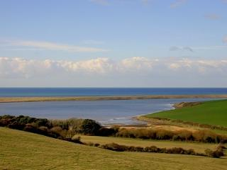 The Fleet and Chesil Beach- - this view 100 yards from the cottage.