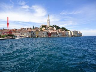 Position of Casa Bella in the centre of the Old town Rovinj - Mediterranean pearl